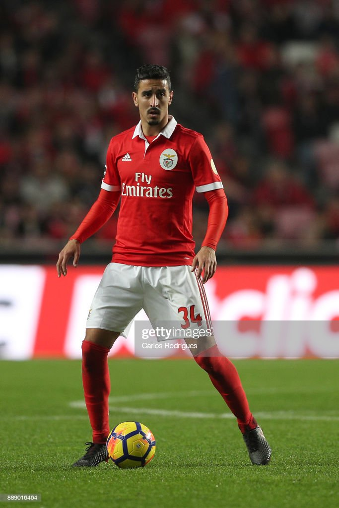 Benfica's defender Andre Almeida from Portugal during the match between SL Benfica and Estoril Praia SAD for the Portuguese Primeira Liga at Estadio da Luz on December 09, 2017 in Lisbon, Portugal.