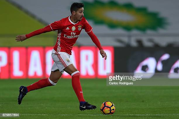 Benfica's defender Andre Almeida from Portugal during the Portuguese Cup Match between Real Massama v SL Benfica at Estadio do Restelo on December 14...