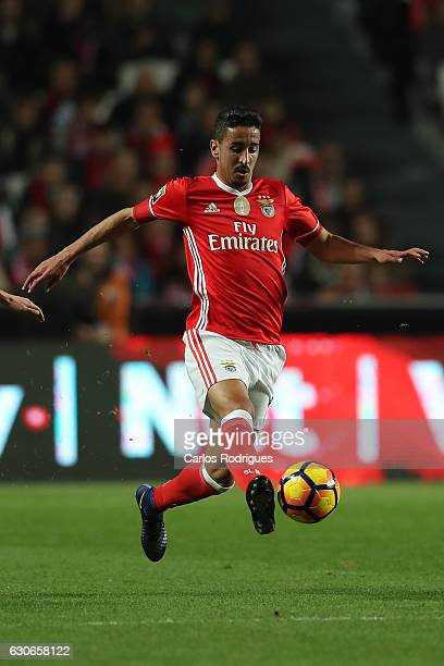 Benfica's defender Andre Almeida from Portugal during the SL Benfica v FC Pacos de Ferreira Portuguese Cup at Estadio da Luz on December 29 2016 in...