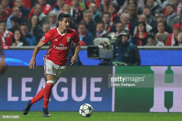 Benfica's defender Andre Almeida from Portugal during the UEFA Champions League group B match between SL Benfica v SSC Napoli at Estadio da Luz on...