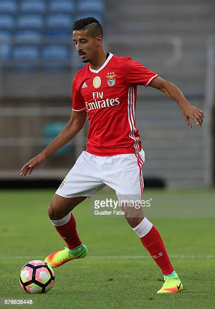 Benfica's defender Andre Almeida in action during the Algarve Football Cup Pre Season Friendly match between SL Benfica and Derby County at Estadio...