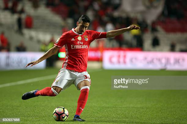 Benfica's defender Andre Almeida in action during the Portuguese League Cup football match SL Benfica vs FC Vizela at the Luz stadium in Lisbon...