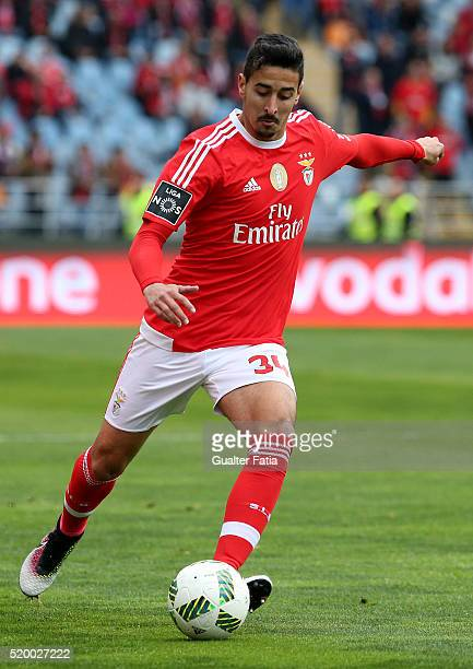 Benfica's defender Andre Almeida in action during the Primeira Liga match between A Academica de Coimbra and SL Benfica at Estadio Cidade de Coimbra...