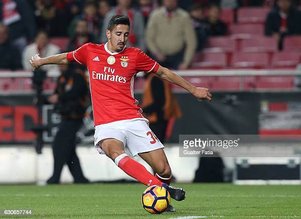 Benfica's defender Andre Almeida in action during the Primeira Liga match between SL Benfica and FC Pacos de Ferreira at Estadio da Luz on December...