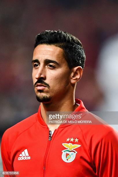 Benfica's defender Andre Almeida poses before the UEFA Champions League Group B football match SL Benfica vs SSC Napoli at the Luz stadium in Lisbon...