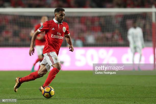 Benfica's defender Douglas from Brasil during the match between SL Benfica and GD Chaves for the Portuguese Primeira Liga at Estadio da Luz on...