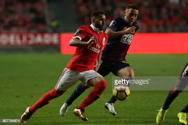Benficas defender Douglas from Brazil during the Premier League 2017/18 match between SL Benfica v GD Chaves at Luz Stadium in Lisbon on January 20...