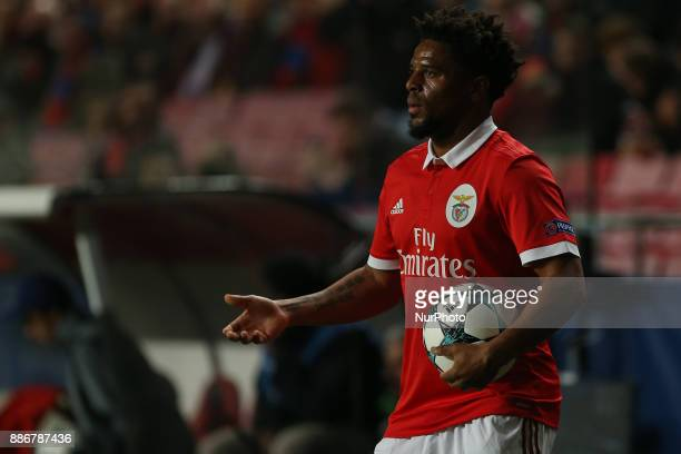 Benficas defender Eliseu from Portugal during the match between SL Benfica v FC Basel UEFA Champions League playoff match at Luz Stadium on December...