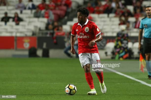 Benficas defender Eliseu from Portugal during the Premier League 2017/18 match between SL Benfica v Portimonense SC at Luz Stadium in Lisbon on...