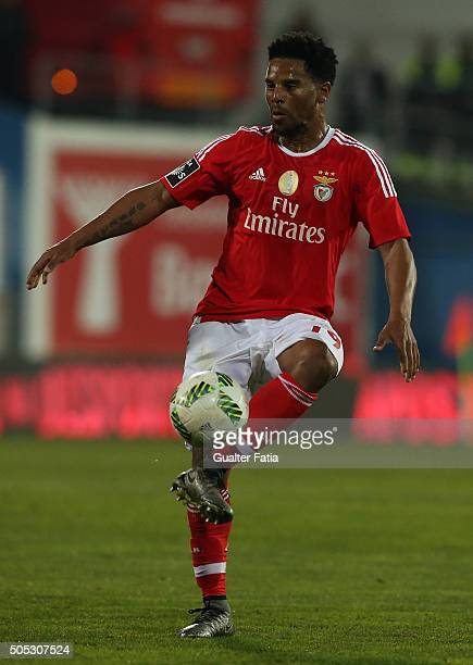 Benfica's defender Eliseu in action during the Primeira Liga match between GD Estoril Praia and SL Benfica at Estadio Antonio Coimbra da Mota on...