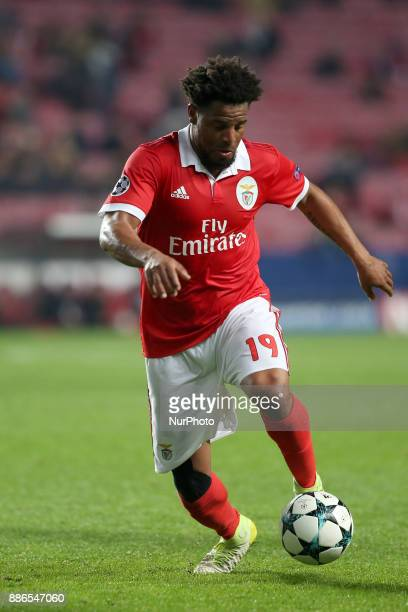 Benfica's defender Eliseu in action during the UEFA Champions League Group A football match between SL Benfica and FC Basel at the Luz stadium in...