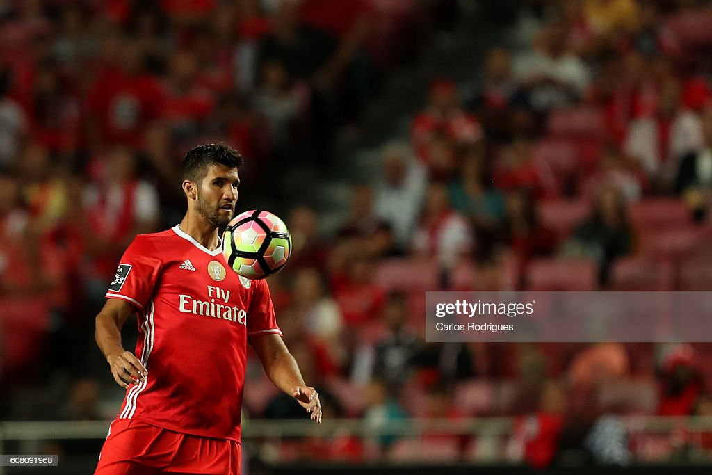 SL Benfica's defender from Argentina Lisandro Lopez during the match between SL Benfica and SC Braga for the Portuguese Primeira Liga at Estadio da Luz on September 19, 2016 in Lisbon, Portugal.