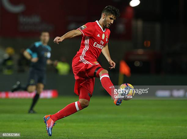 Benfica's defender from Argentina Lisandro Lopez in action during Portuguese League Cup Semi Final match between SL Benfica and Moreirense FC at...