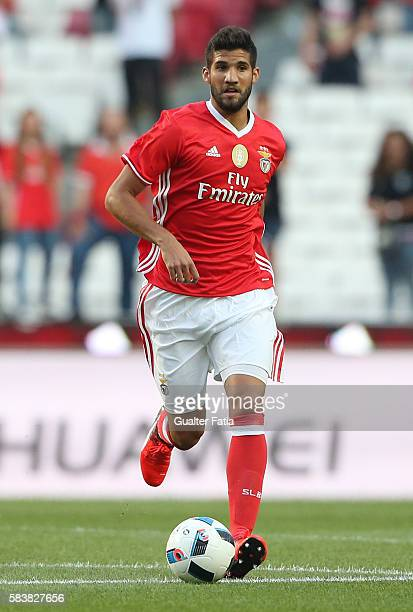Benfica's defender from Argentina Lisandro Lopez in action during the Eusebio Cup match between SL Benfica and Torino at Estadio da Luz on July 27...
