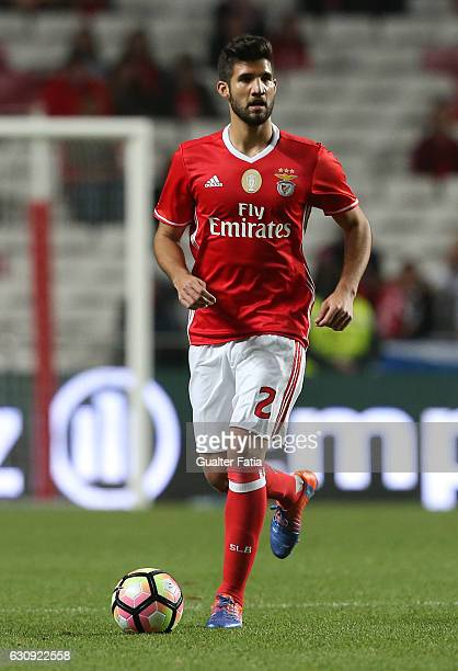 Benfica's defender from Argentina Lisandro Lopez in action during the Primeira Liga match between SL Benfica and FC Vizela at Estadio da Luz on...