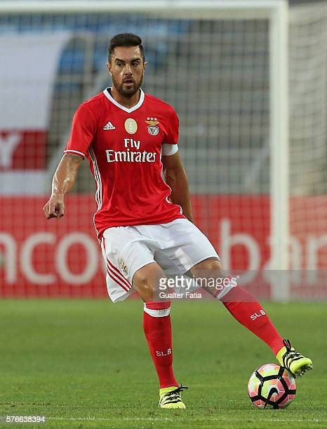 Benfica's defender from Brazil Jardel in action during the Algarve Football Cup Pre Season Friendly match between SL Benfica and Derby County at...