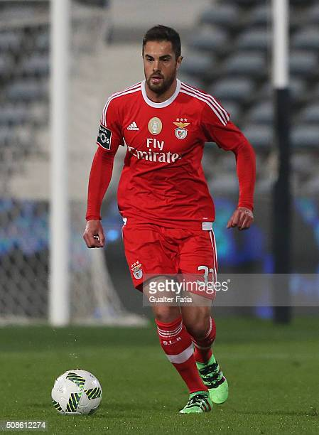 Benfica's defender from Brazil Jardel in action during the Primeira Liga match between Os Belenenses and SL Benfica at Estadio do Restelo on February...