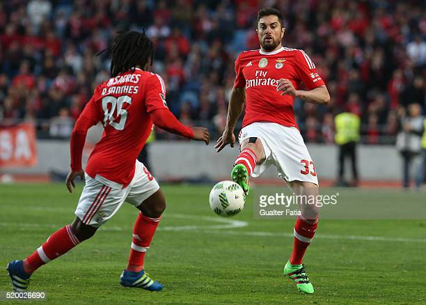 Benfica's defender from Brazil Jardel in action during the Primeira Liga match between A Academica de Coimbra and SL Benfica at Estadio Cidade de...