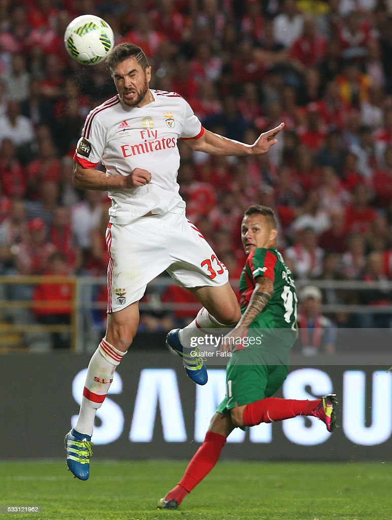 SL Benfica's defender from Brazil Jardel in action during the Taca CTT Final match between SL Benfica and CS Maritimo at Estadio Efapel Cidade de Coimbra on May 20, 2016 in Coimbra, Portugal.