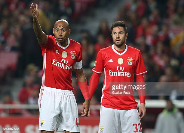 Benfica's defender from Brazil Luisao and SL Benfica's defender from Brazil Jardel during the Primeira Liga match between SL Benfica and FC Pacos de...