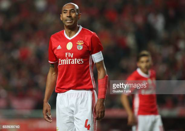 Benfica's defender from Brazil Luisao during the Primeira Liga match between SL Benfica and CD Nacional at Estadio da Luz on February 5 2017 in...