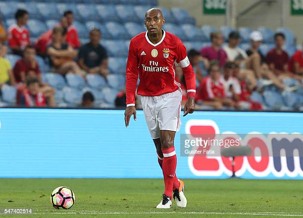 Benfica's defender from Brazil Luisao in action during the Algarve Football Cup Pre Season Friendly match between SL Benfica and Vitoria Setubal at...