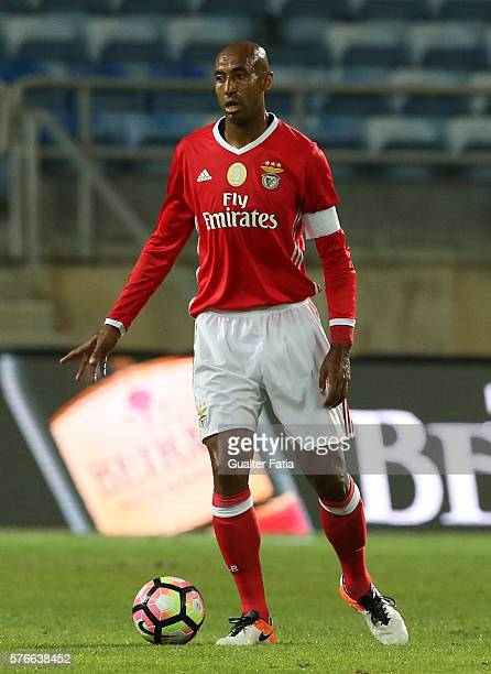 Benfica's defender from Brazil Luisao in action during the Algarve Football Cup Pre Season Friendly match between SL Benfica and Derby County at...
