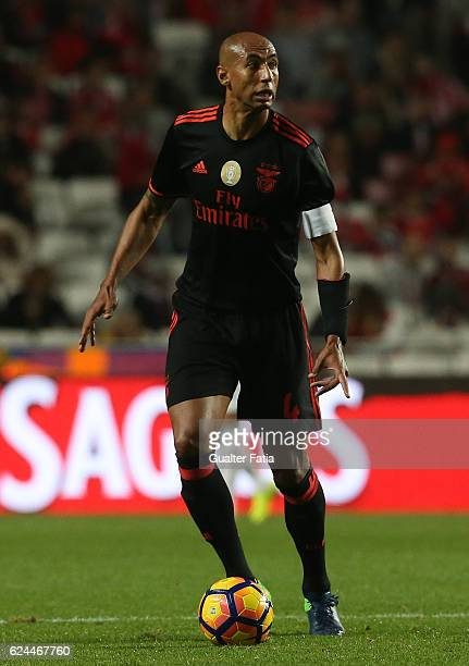 Benfica's defender from Brazil Luisao in action during the Portuguese Cup match between SL Benfica and CS Maritimo at Estadio da Luz on November 19...
