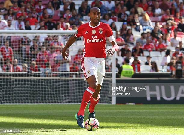 Benfica's defender from Brazil Luisao in action during the Primeira Liga match between SL Benfica and CD Feirense at Estadio da Luz on October 2 2016...