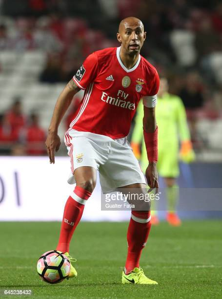 Benfica's defender from Brazil Luisao in action during the Primeira Liga match between SL Benfica and GD Chaves at Estadio da Luz on February 24 2017...