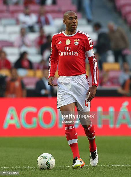 Benfica's defender from Brazil Luisao in action during the Taca CTT match between SL Benfica and SC Braga at Estadio da Luz on May 2 2016 in Lisbon...