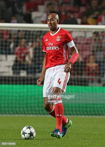 Benfica's defender from Brazil Luisao in action during the UEFA Champions League match between SL Benfica and FC Dynamo Kyiv at Estadio da Luz on...