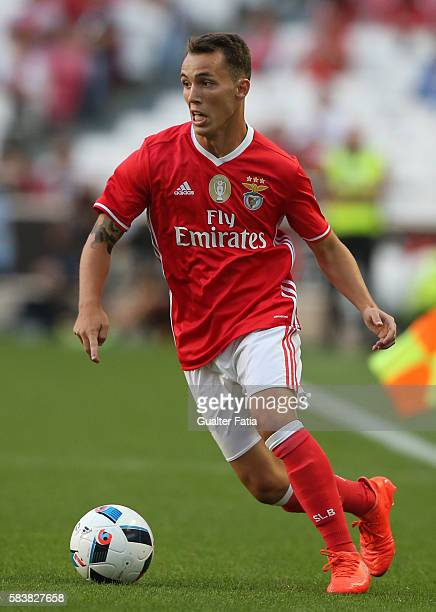 Benfica's defender from Spain Alex Grimaldo in action during the Eusebio Cup match between SL Benfica and Torino at Estadio da Luz on July 27 2016 in...