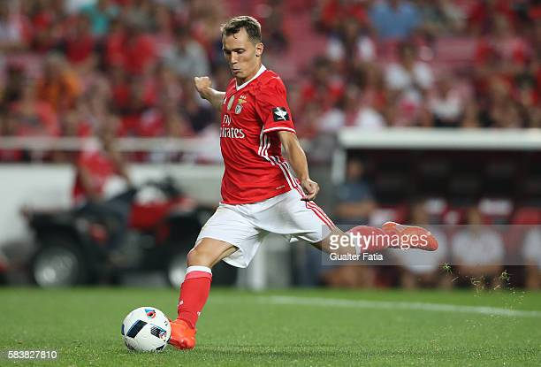 BenficaÕs defender from Spain Alex Grimaldo in action during the Eusebio Cup match between SL Benfica and Torino at Estadio da Luz on July 27 2016 in...