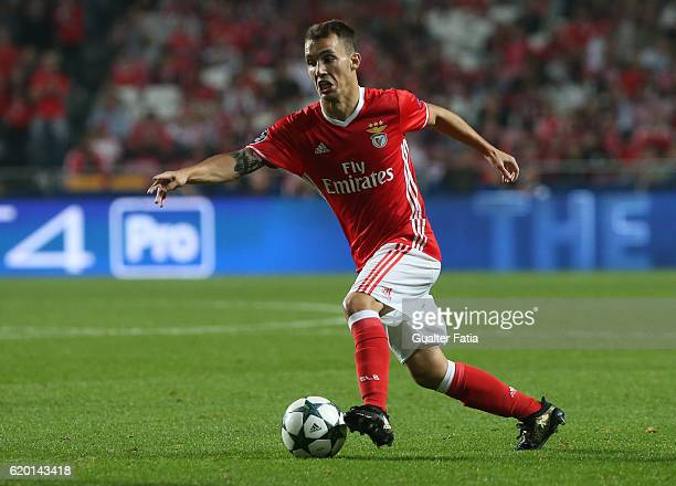 Benfica's defender from Spain Alex Grimaldo in action during the UEFA Champions League match between SL Benfica and FC Dynamo Kyiv at Estadio da Luz...