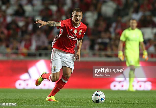 BenficaÕs defender from Sweden Victor Lindelof in action during the Eusebio Cup match between SL Benfica and Torino at Estadio da Luz on July 27 2016...