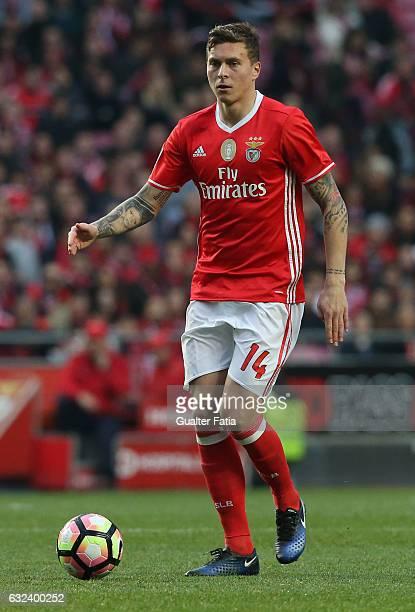 Benfica's defender from Sweden Victor Lindelof in action during the Primeira Liga match between SL Benfica and CD Tondela at Estadio da Luz on...