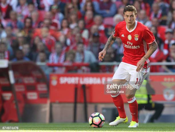 Benfica's defender from Sweden Victor Lindelof in action during the Primeira Liga match between SL Benfica and GD Estoril Praia at Estadio da Luz on...