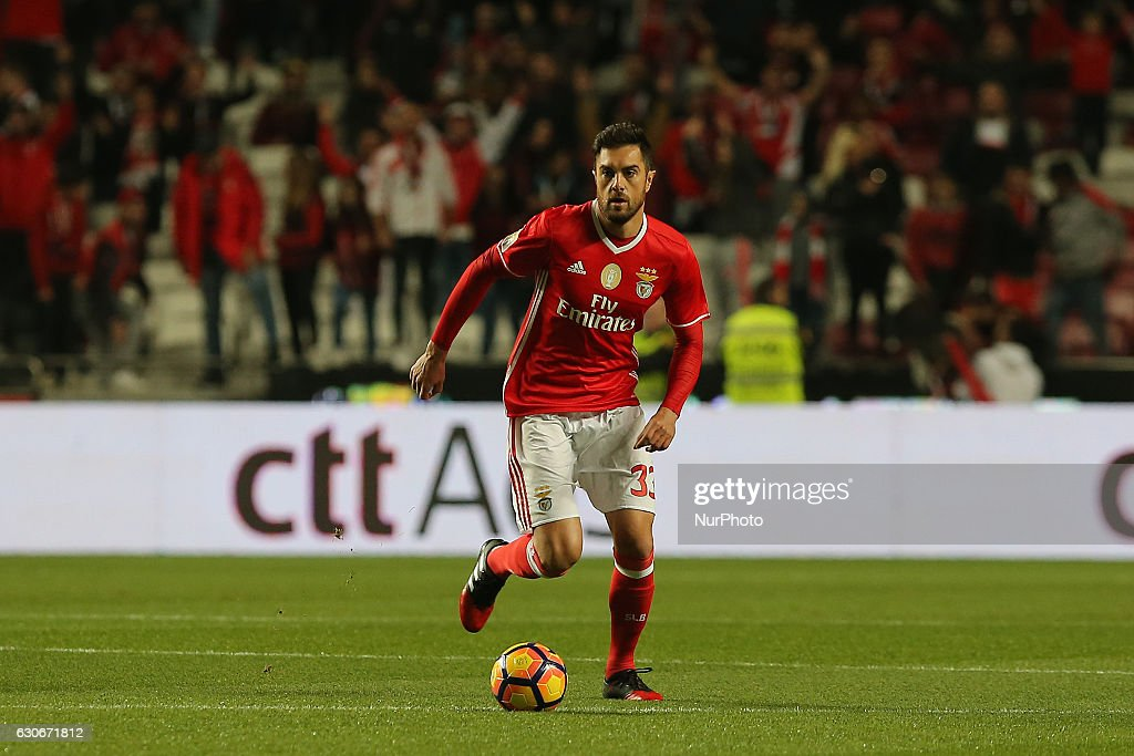Benficas defender Jardel from Brazil during the Portuguese Cup 2016/17 match between SL Benfica v FC Pacos Ferreira, at Luz Stadium in Lisbon on December 29, 2016.