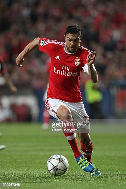 Benfica's defender Jardel Vieira during the match between SL Benfica and FC Zenit for the UEFA Champions League Quarter Final Second Leg at Estadio...