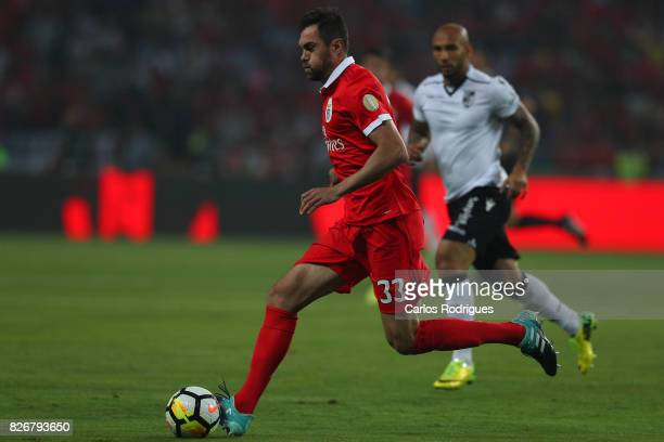 Benfica's defender Jardel Vieira from Brasil during the match between SL Benfica and VSC Guimaraes at Estadio Municipal de Aveiro on August 05 2017...