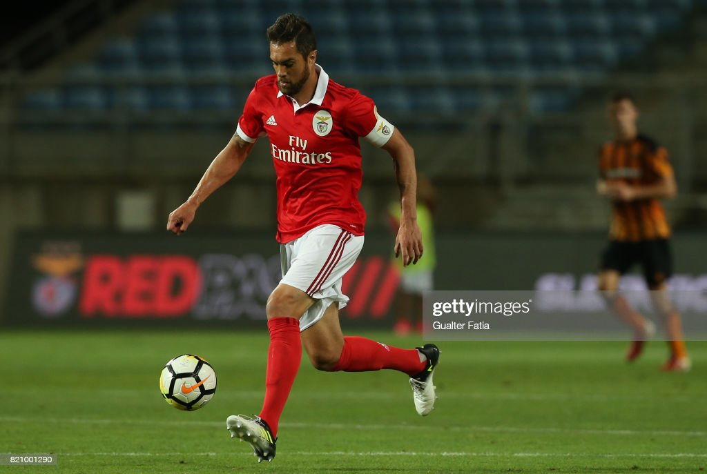 Benfica's defender Jardel Vieira from Brasil in action during the Algarve Cup match between SL Benfica and Hull City at Estadio Algarve on July 22, 2017 in Faro, Portugal.