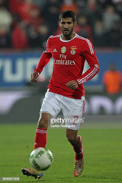 Benfica's defender Lisandro Lopez during the match between GD Estoril and SL Benfica for the Portuguese Primeira Liga at Estadio da Luz on January 16...