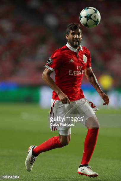 Benfica's defender Lisandro Lopez from Argentina during SL Benfica v CSKA Moskva UEFA Champions League round one match at Estadio da Luz on September...