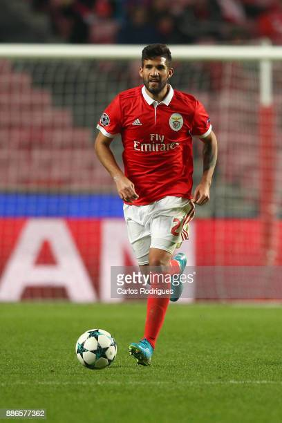 Benfica's defender Lisandro Lopez from Argentina during SL Benfica v FC Basel UEFA Champions League round six match at Estadio da Luz on December 05...