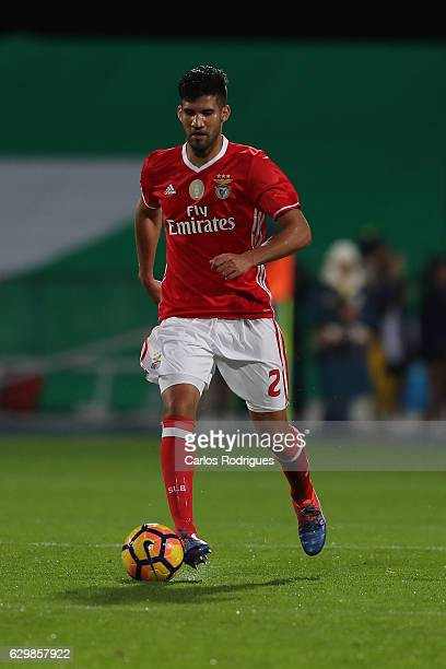 Benfica's defender Lisandro Lopez from Argentina during the Portuguese Cup Match between Real Massama v SL Benfica at Estadio do Restelo on December...