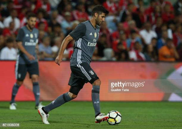 Benfica's defender Lisandro Lopez from Argentina in action during the Algarve Cup match between SL Benfica and Real Betis at Estadio Algarve on July...
