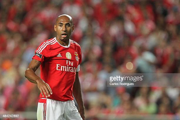 Benfica's defender Luisao during the match between SL Benfica and Estoril Praia at Estadio da Luz on August 16 2015 in Lisbon Portugal