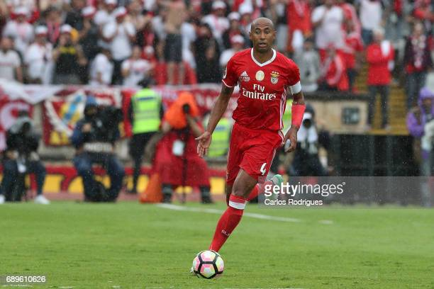 Benfica's defender Luisao from Brasil during the match between SL Benfica and Vitoria SC for the Portuguese Cup Final at Estadio Nacional on May 28...