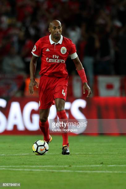 Benfica's defender Luisao from Brasil during the match between SL Benfica and VSC Guimaraes at Estadio Municipal de Aveiro on August 05 2017 in...